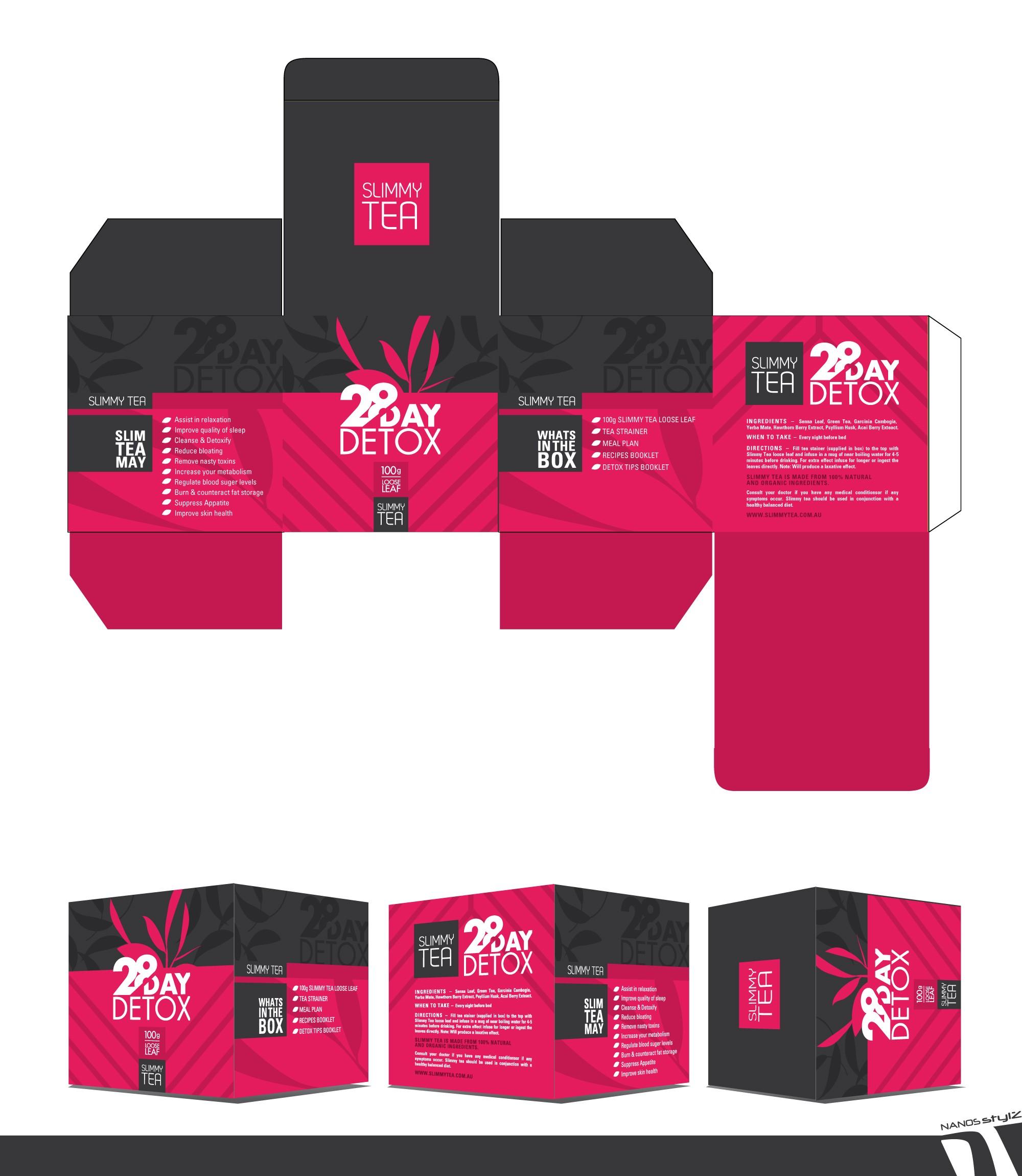 Teeverpackung-Entwurf von NANOSstylz