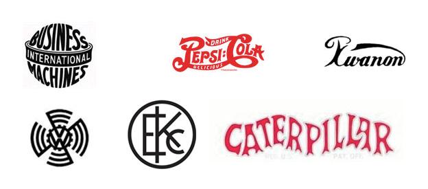 Logo-Designs von 1906 bis 1939
